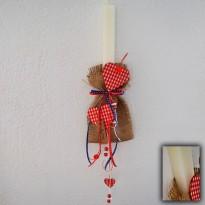 Δες το προϊόν: Λαμπάδα διπλή σε πουγκί - Cuoreland.gr